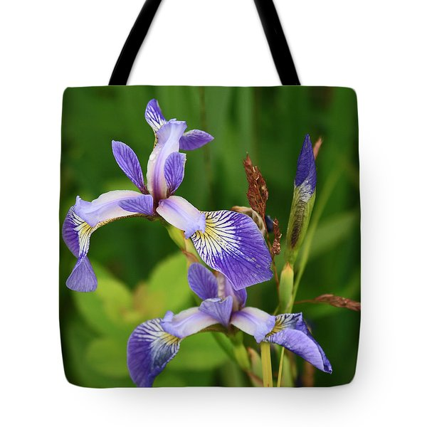 Maine Wild Iris Tote Bag