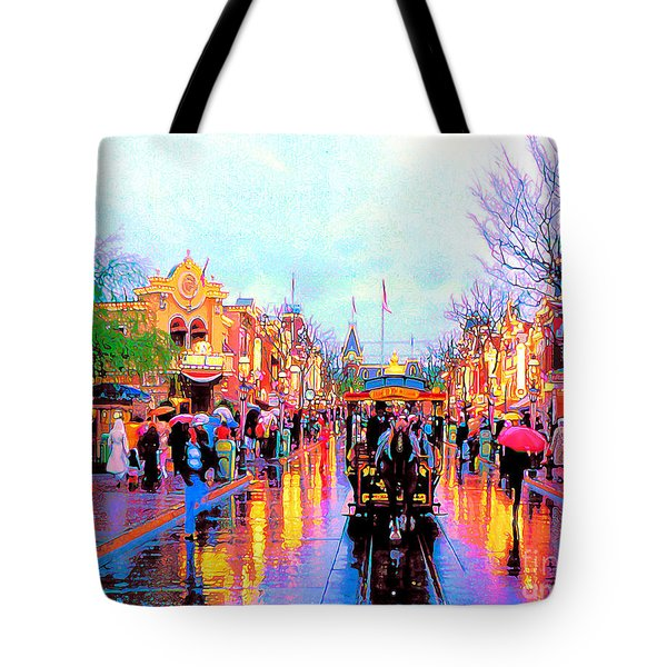 Tote Bag featuring the photograph Mainstreet Disneyland by David Lawson