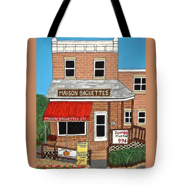 Maison Baguettes Tote Bag by Stephanie Moore