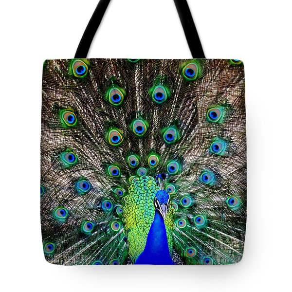 Majestic Blue Tote Bag by Karen Wiles