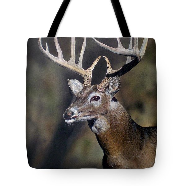 Majestic Buck Tote Bag by Todd Spaur