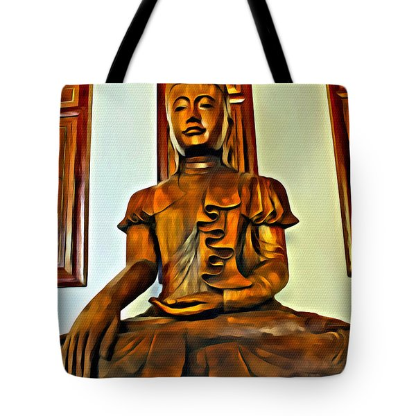 Majestic Buddha Tote Bag