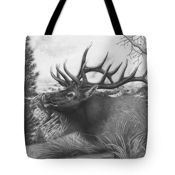 Majestic Bull Elk Tote Bag