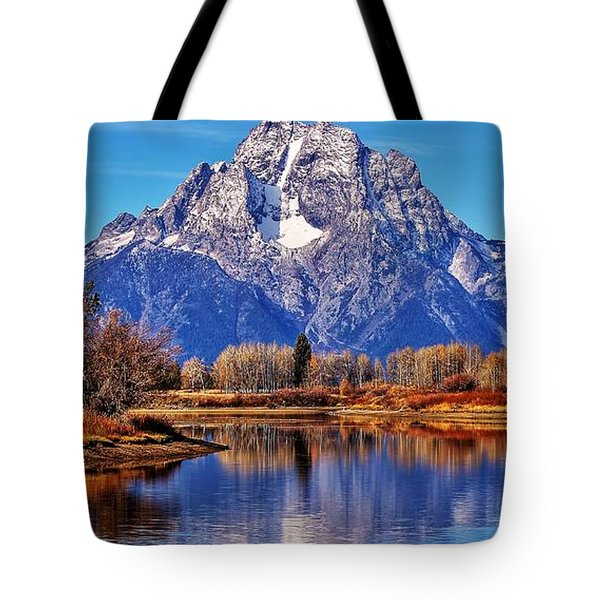 Tote Bag featuring the photograph Majestic Moran by Benjamin Yeager