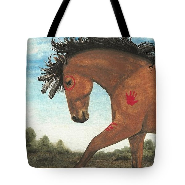 Majestic Mustang 36 Tote Bag by AmyLyn Bihrle
