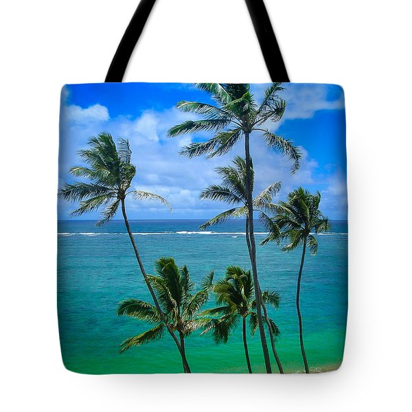Majestic Palm Trees Tote Bag