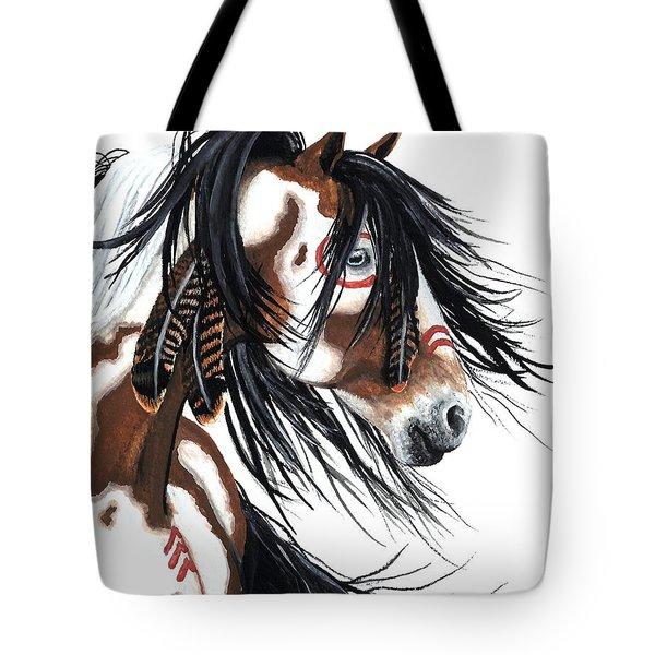 Majestic Pinto Horse Tote Bag by AmyLyn Bihrle