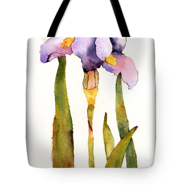 Majestic Purple Iris Tote Bag