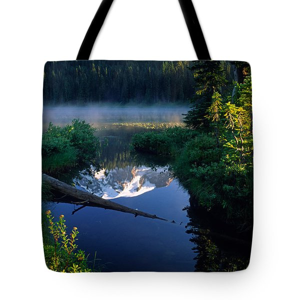 Majestic Reflection Tote Bag by Inge Johnsson