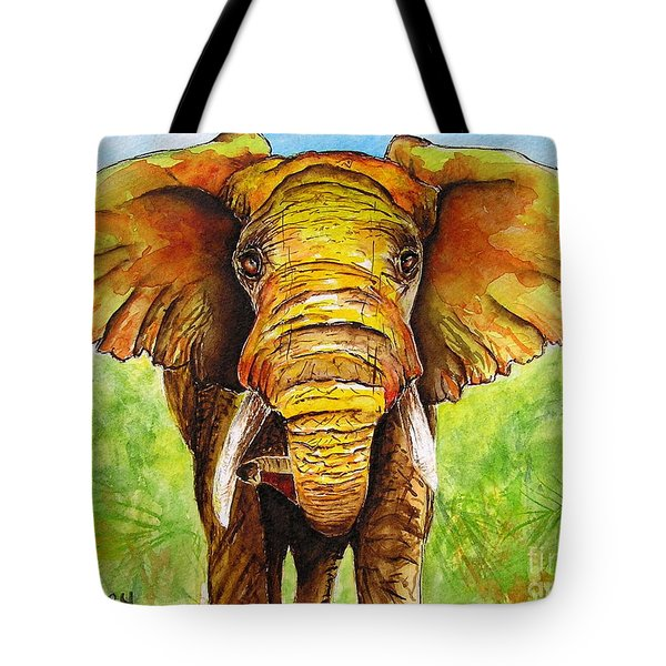Tote Bag featuring the painting Major Domo by Diane DeSavoy