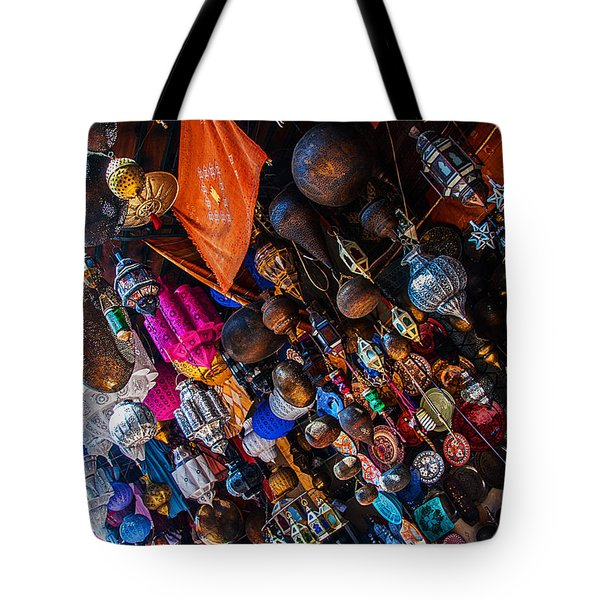 Marrakech Lanterns Tote Bag