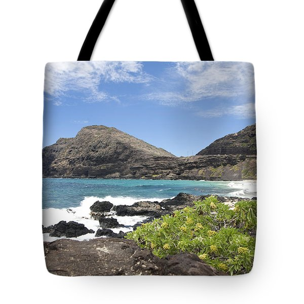 Makapuu Beach Tote Bag by Brandon Tabiolo