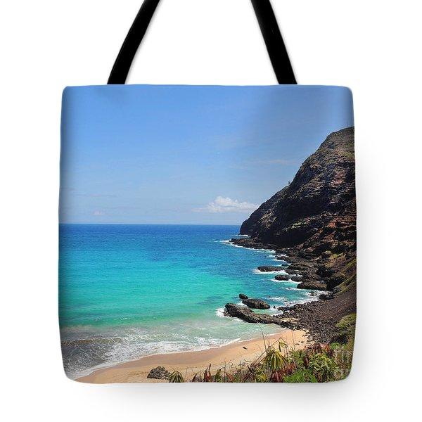 Makapu'u Beach  Tote Bag by Kristine Merc