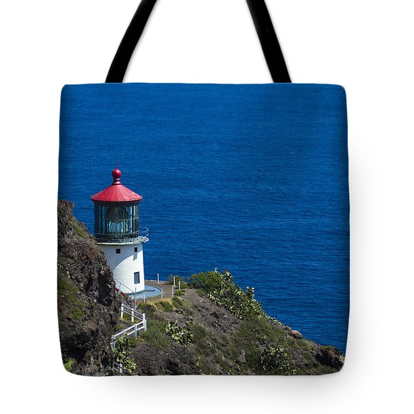 Tote Bag featuring the photograph Makapuu Lighthouse 1 by Leigh Anne Meeks