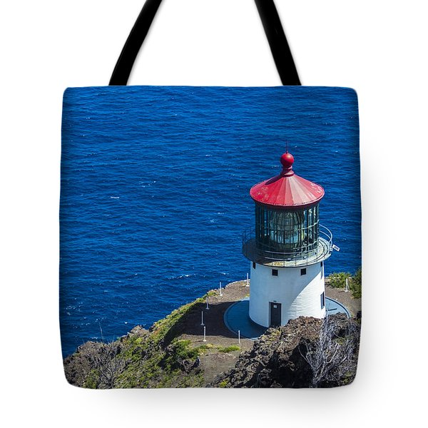 Tote Bag featuring the photograph Makapuu Lighthouse 3 by Leigh Anne Meeks