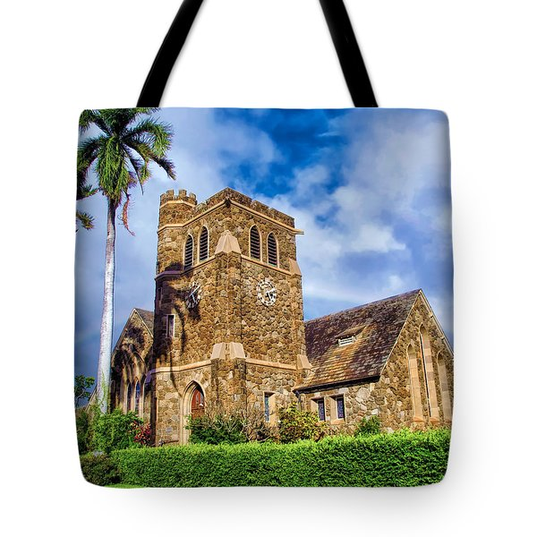 Makawao Union Church 1 Tote Bag by Dawn Eshelman