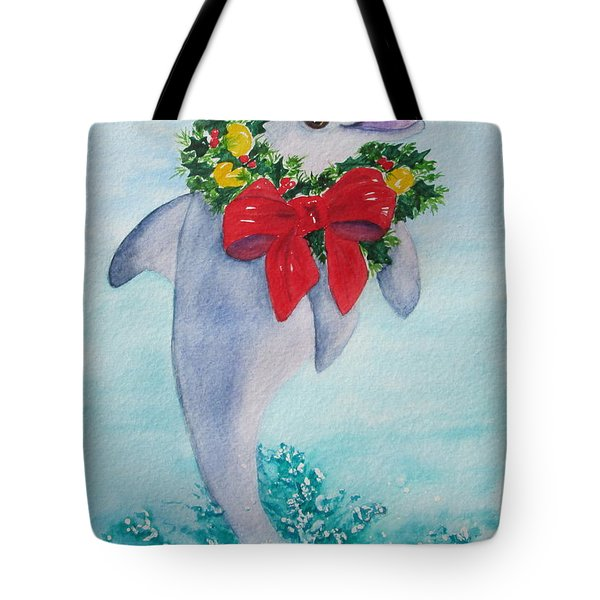 Tote Bag featuring the painting Make A Splash by Diane DeSavoy