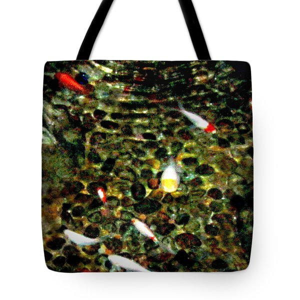 Make A Wish Koi Fishes Tote Bag by Danielle  Parent