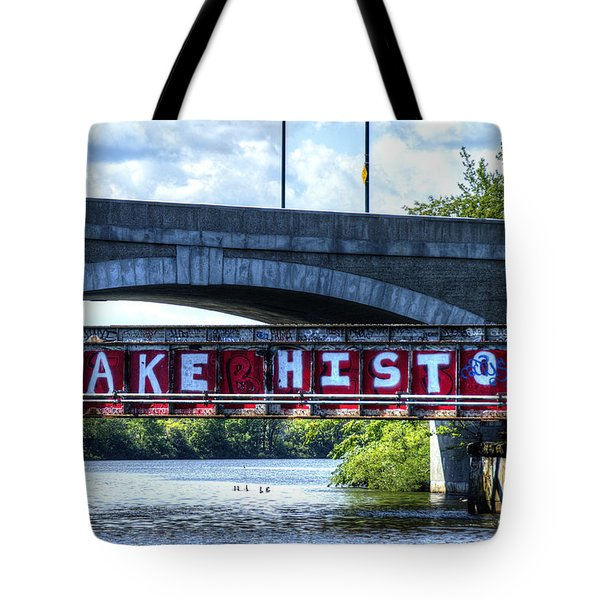 Make History Boston Tote Bag
