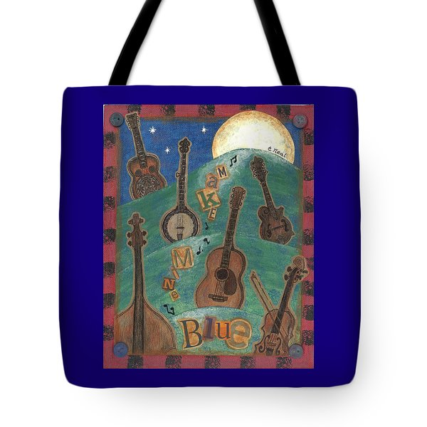 Make Mine Blue Tote Bag