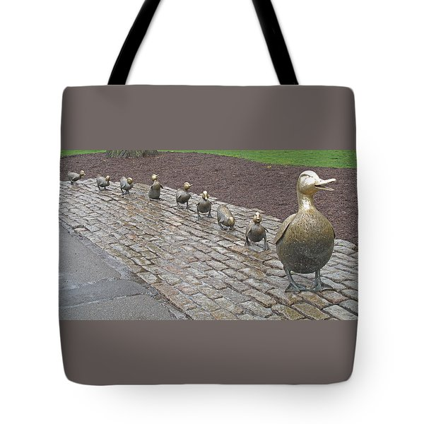 Make Way For Ducklings Tote Bag by Barbara McDevitt