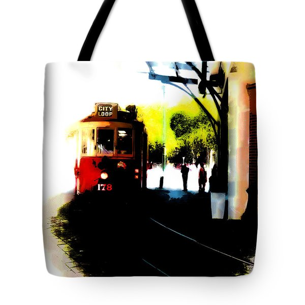 Make Way For The Tram  Tote Bag