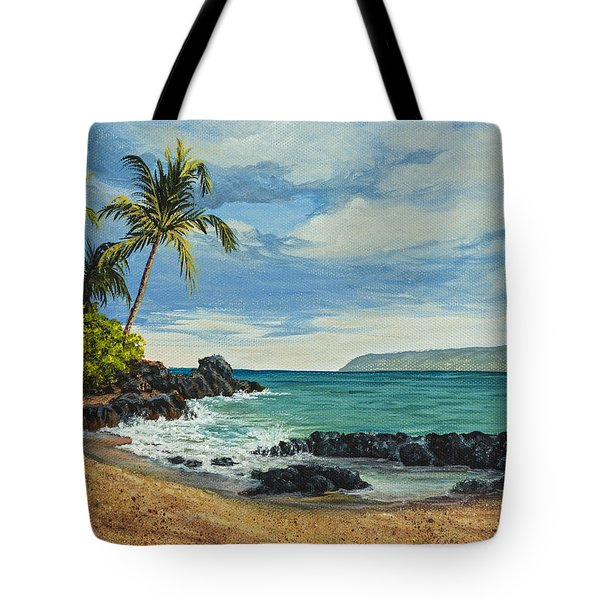 Tote Bag featuring the painting Makena Beach by Darice Machel McGuire