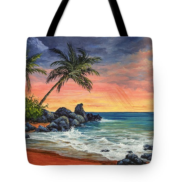 Makena Beach Sunset Tote Bag