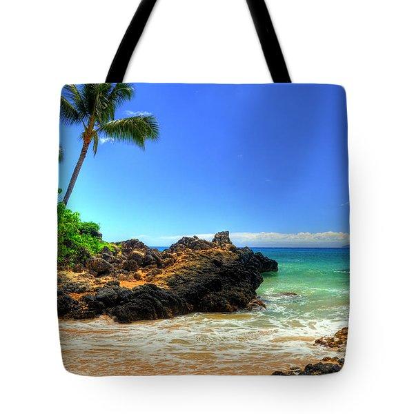 Makena Secret Cove Paako Beach Tote Bag by Kelly Wade