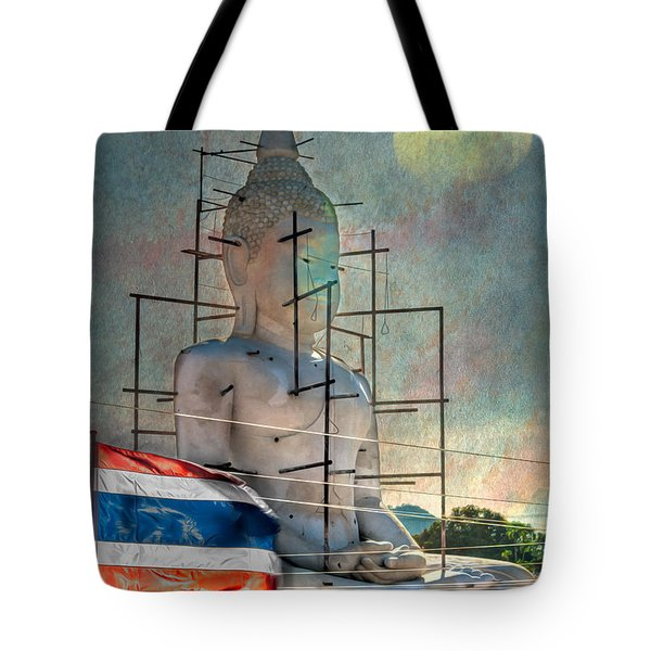 Making Buddha Tote Bag by Adrian Evans