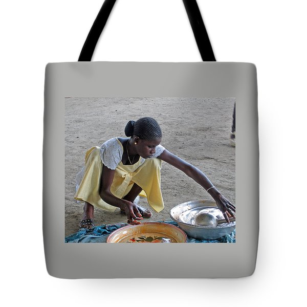 Making Lunch Dakar Senagal Tote Bag by Jay Milo