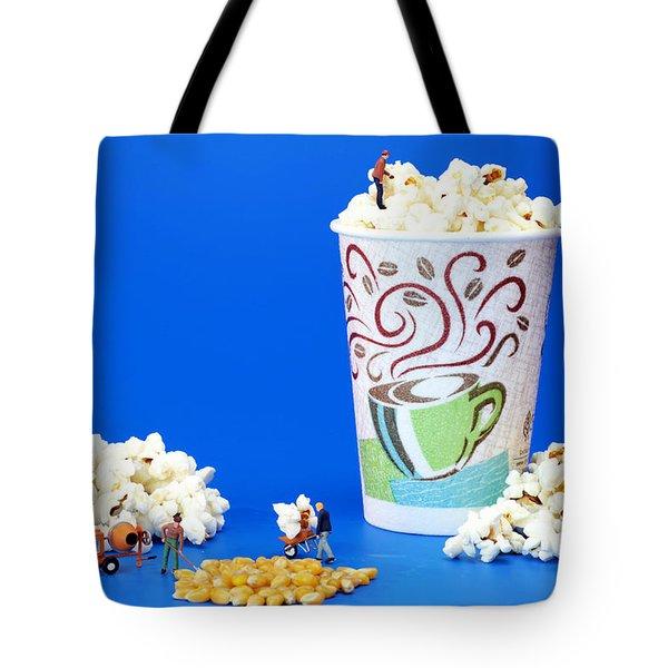 Making Popcorn Tote Bag by Paul Ge