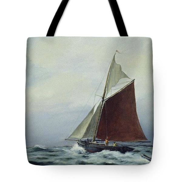 Making Sail After A Blow Tote Bag by Vic Trevett