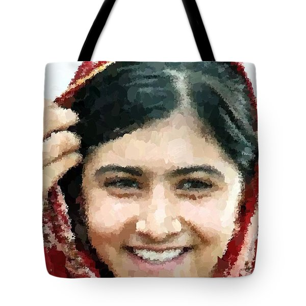 Malala Yousafzai Portrait Tote Bag