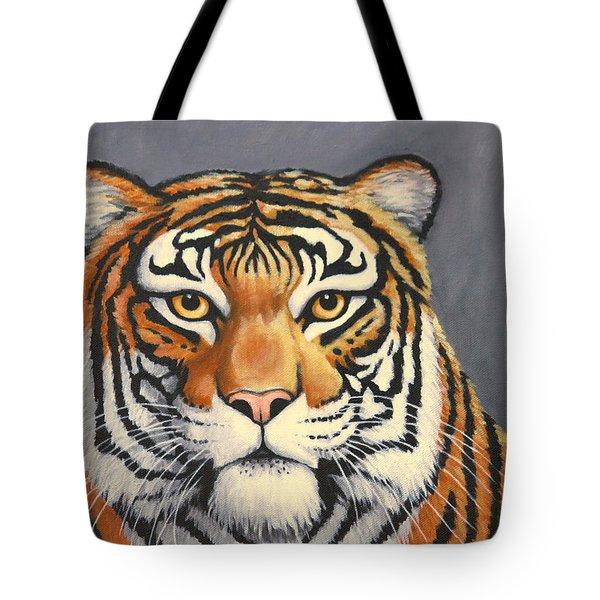 Malayan Tiger Portrait Tote Bag