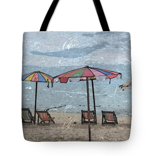 Malazy Day At The Beach Tote Bag