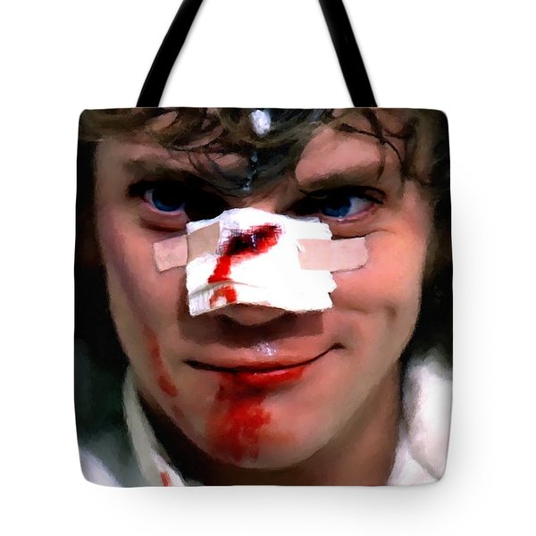 Malcolm Mcdowell As Alex In The Film Clockwork Orange By Stanley Kubrick 1971 Tote Bag