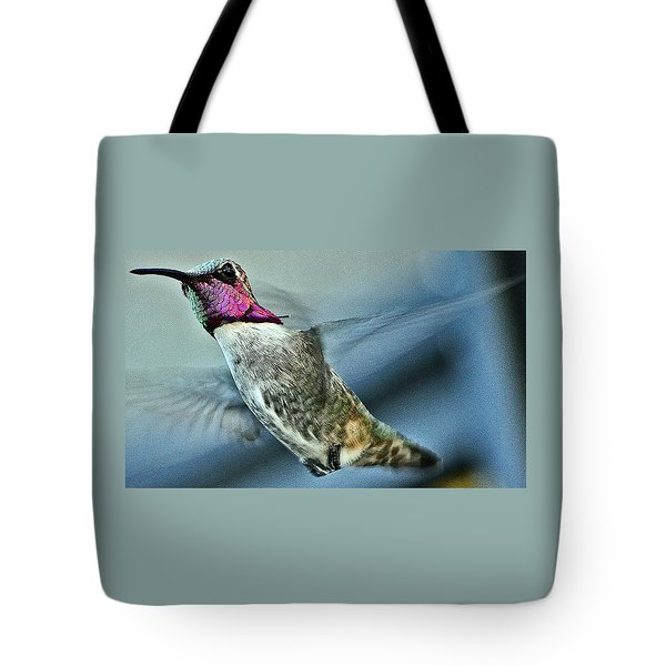Tote Bag featuring the photograph Male Hummingbird Free As A Bird by Jay Milo