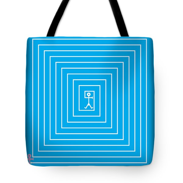 Male Maze Icon Tote Bag by Thisisnotme
