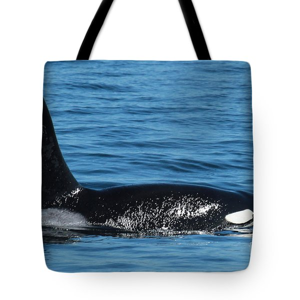 Tote Bag featuring the photograph Lonesome George Ca165  Male Orca Killer Whale In Monterey Bay California 2013 by California Views Mr Pat Hathaway Archives
