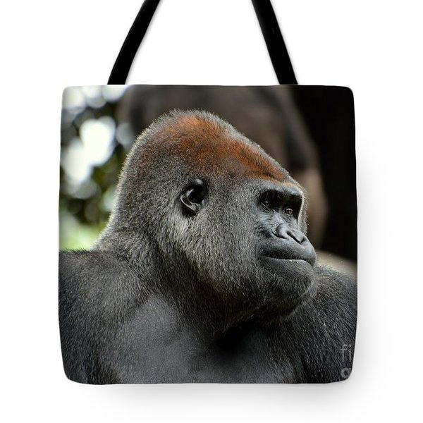 Male Silverback Tote Bag by Lisa L Silva