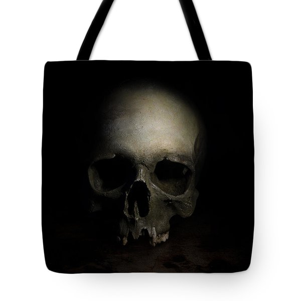 Tote Bag featuring the photograph Male Skull by Jaroslaw Blaminsky