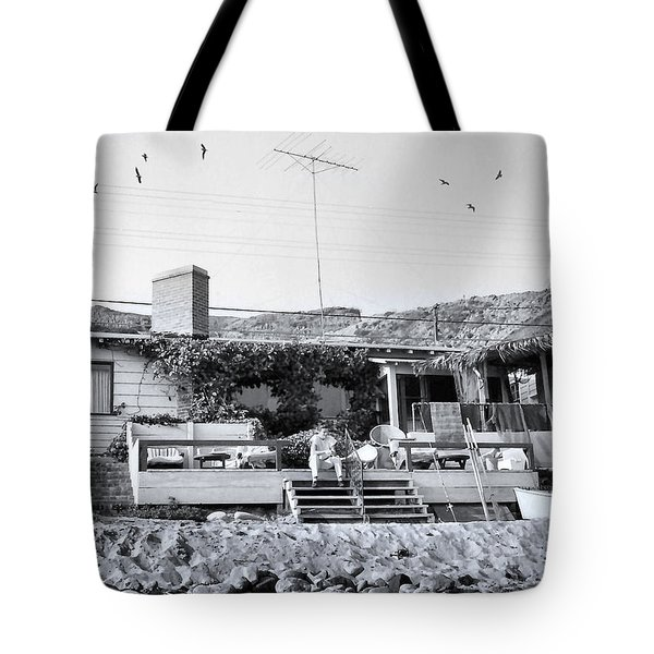 Malibu Beach House - 1960 Tote Bag by Chuck Staley