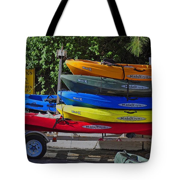 Malibu Kayaks Tote Bag by Gandz Photography