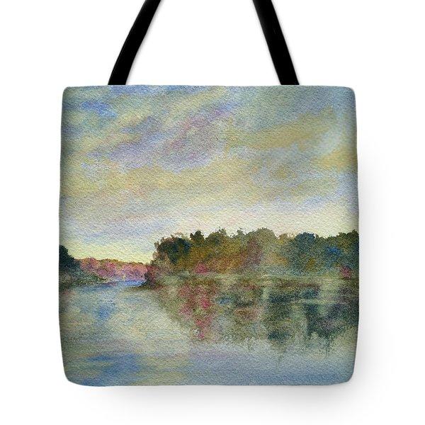 Malibu Lagoon Impressions Tote Bag by Jan Cipolla