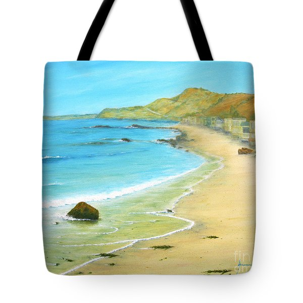 Malibu Road Tote Bag by Jerome Stumphauzer