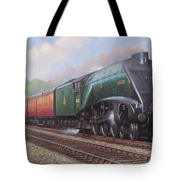 Mallard On The Elizabethan. Tote Bag by Mike  Jeffries
