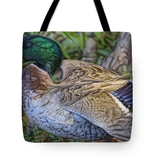Mallard Port Orange Beauty Tote Bag by Deborah Benoit