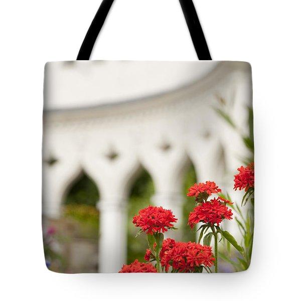 Maltese Cross Flowers Tote Bag by Anne Gilbert