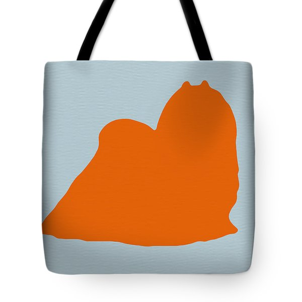 Maltese Orange Tote Bag by Naxart Studio